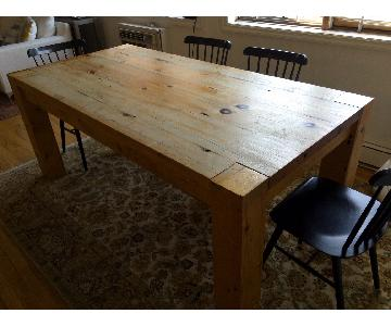 Handmade Dining Table w/ 1 Bench