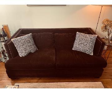 Mitchell Gold + Bob Williams Velvet Sofa