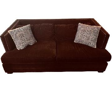 Mitchell Gold + Bob Williams Velvet Sofa