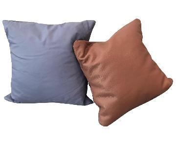 Cold Picnic Blue & Pink Leather Pillows