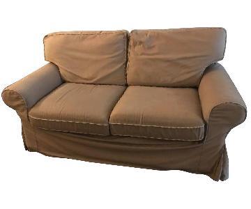 West Elm Natural Slipcovered Sofa