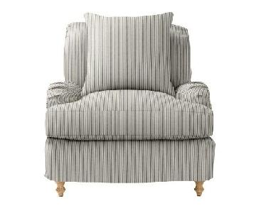 Serena and Lily Striped Miramar Chairs