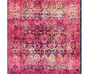 nuLOOM Persian Style Pink Navy Rug