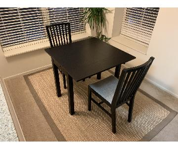 Ikea Bjursta Extendable Table w/ 2 Chairs