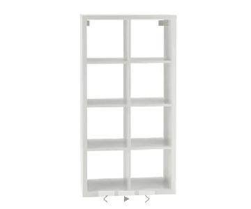 Ikea Kallax Shelving w/ 2 Insert Drawers + 3 Storage Boxes