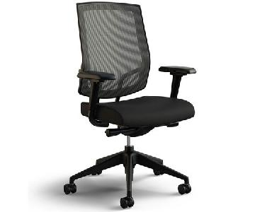 Black Office Task Chair w/ Mesh Back