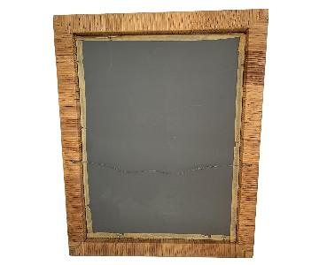 Vintage Bamboo & Brass Mirror
