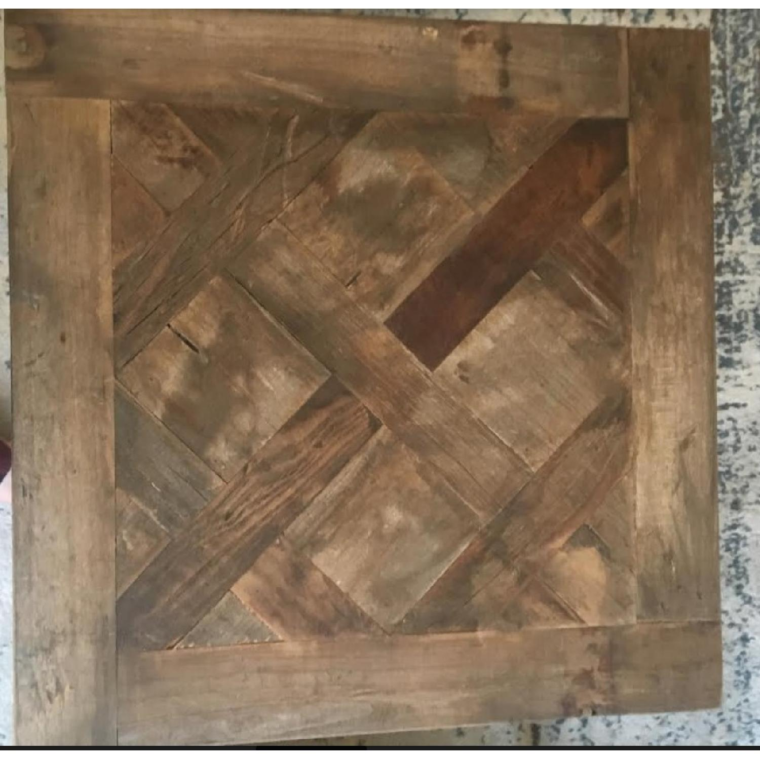 Pottery Barn Parquet Reclaimed Wood End Table-4