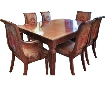 Ethan Allen Premium Wood Dining Room Table w/ 8 Chairs