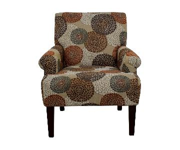 Raymour & Flanigan Multi Colored Floral Accent Chair