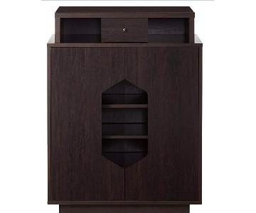 Whitley Contemporary Shoe Cabinet in Cappuccino