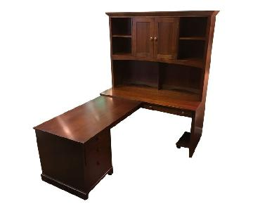 Ethan Allen Wood Desk & Chair