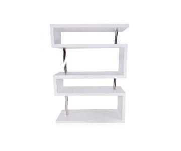 Modani White Lacquer Shelving System