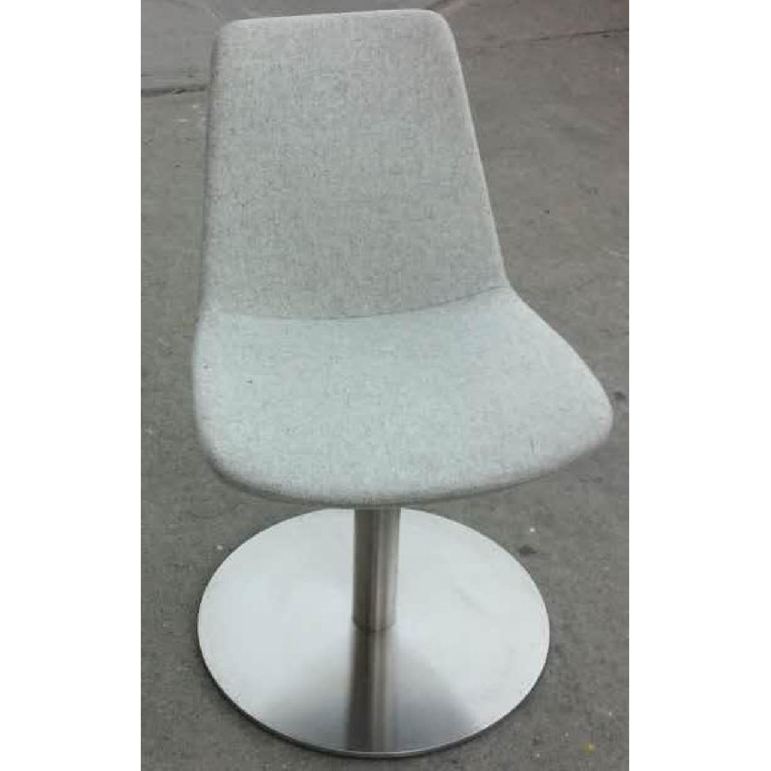 Groovy Sohoconcept Swivel Accent Dining Chair In Light Wool Fabric Uwap Interior Chair Design Uwaporg