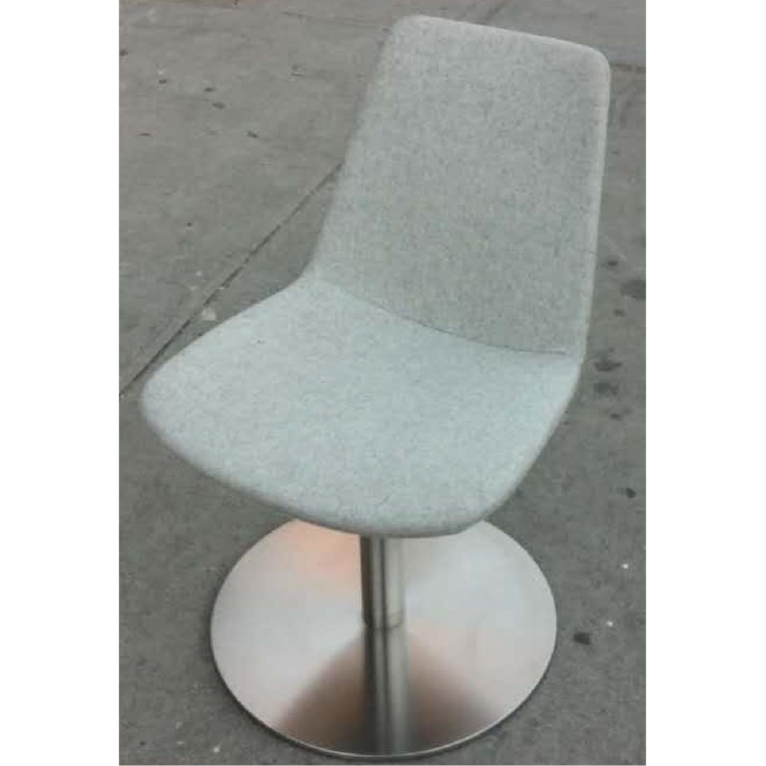 SohoConcept Swivel Accent/Dining Chair in Light Wool Fabric  - image-2