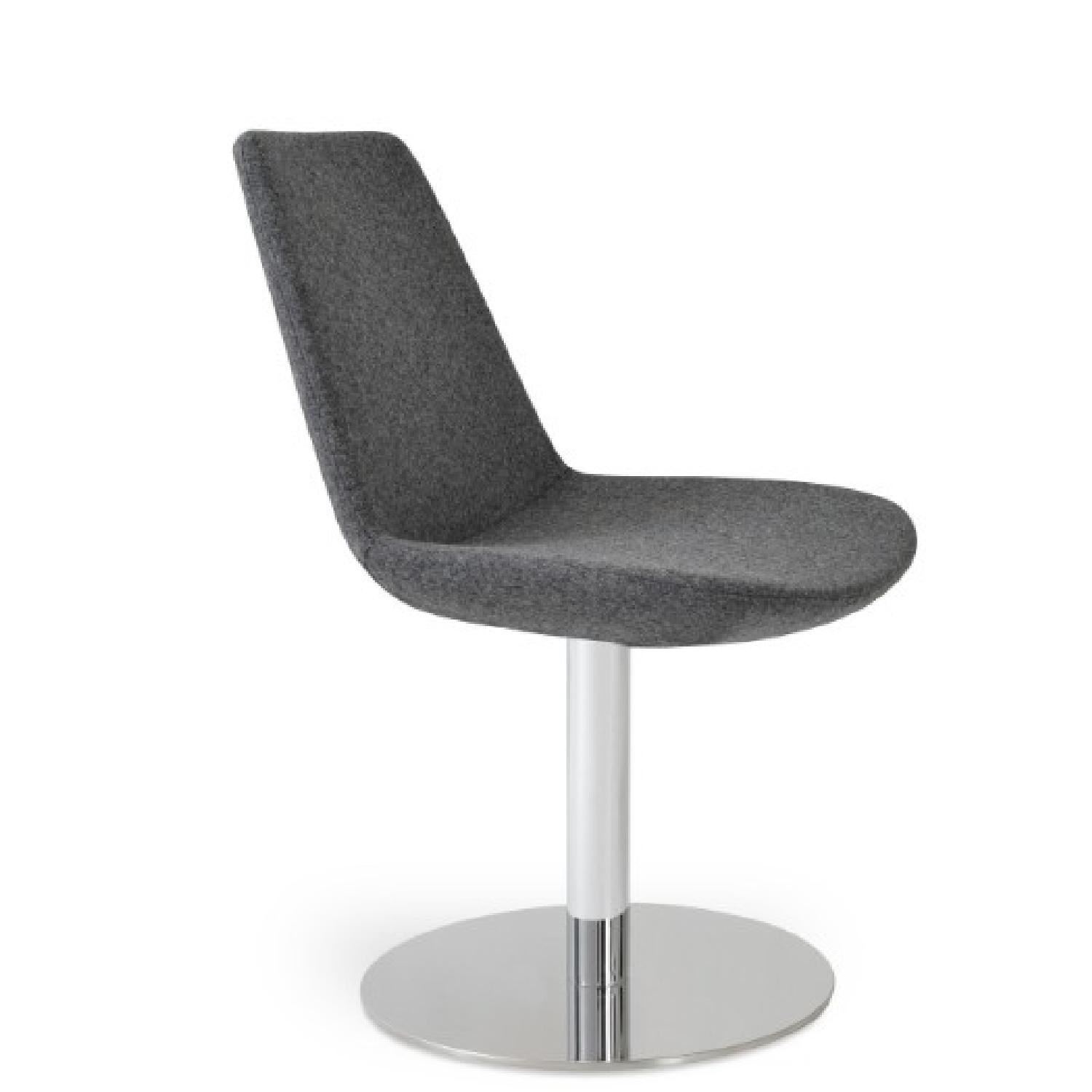 SohoConcept Swivel Accent/Dining Chair in Light Wool Fabric  - image-3