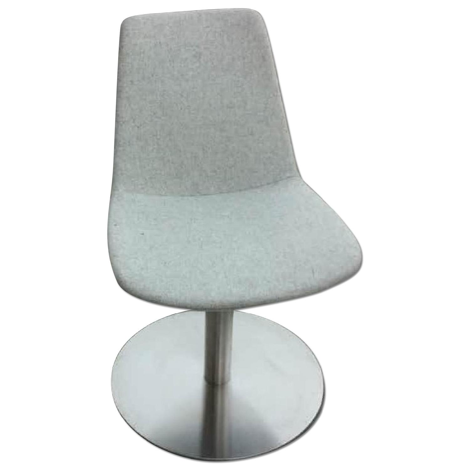 SohoConcept Swivel Accent/Dining Chair in Light Wool Fabric  - image-0