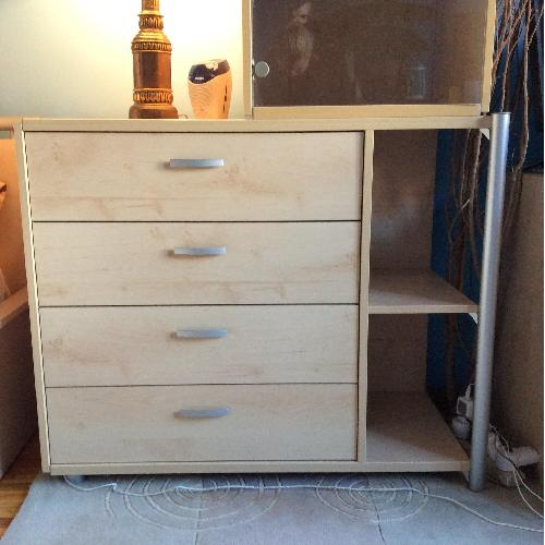 Used Gautier Furniture 4-Drawer/2 Shelves Chest for sale on AptDeco