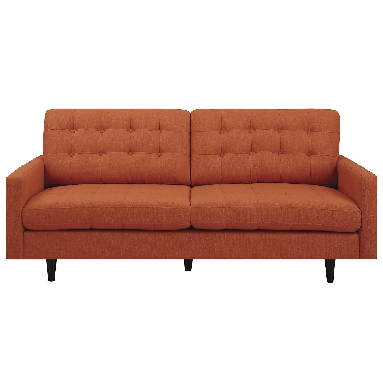 Mid Century Style Sofa: Mid-Century Modern Style Sofa W/ Reversible Seat & Back