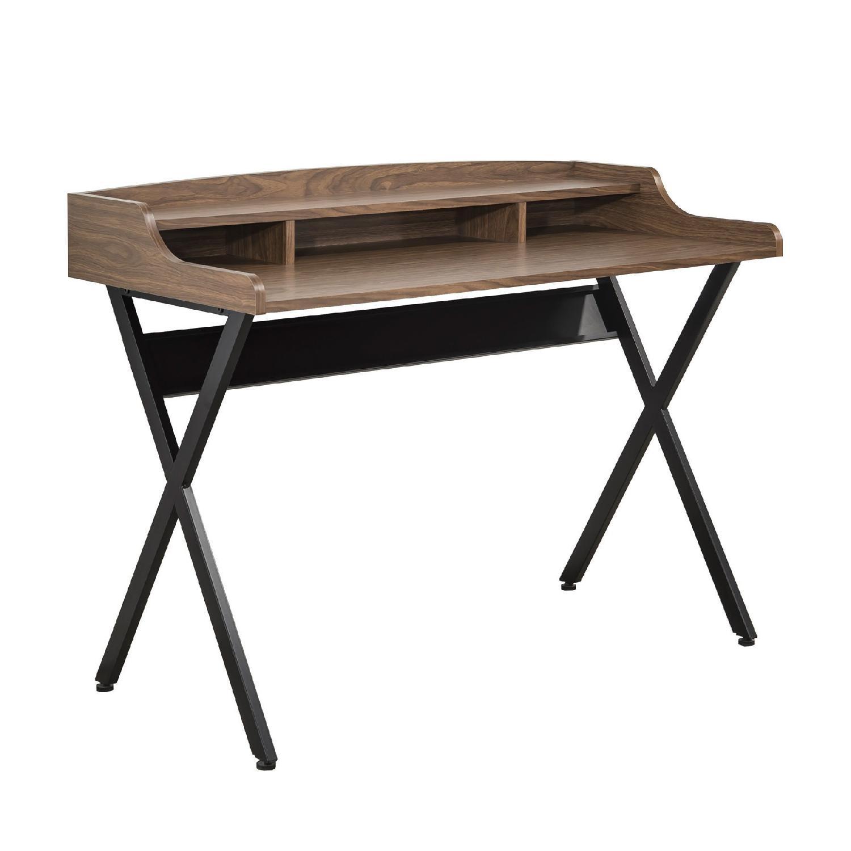 Writing Desk In Light Brown Finish W Mini Hutch Amp Aptdeco