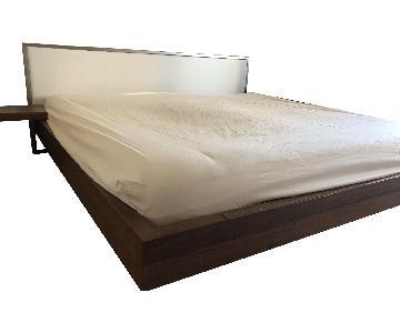 BoConcept King Size Storage Bed w/ Headboard & Nightstand