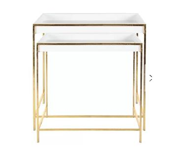 Cole & Grey Metal & Wood Console Tables