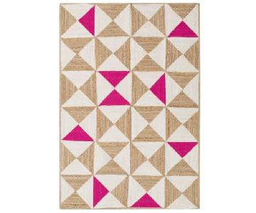 Sherrick Hand Woven Cotton Pink Area Rug