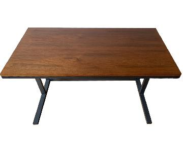 CB2 Walnut Top Desk