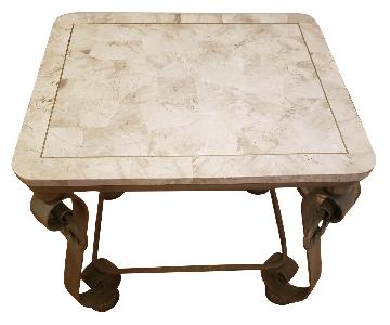 Seaman's Furniture Stone Top Side Tables