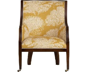 Crate & Barrel Mustard Pirouette Armchair