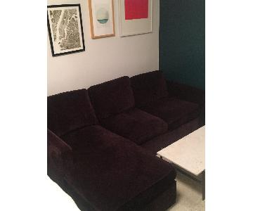 Crate & Barrel Davis 3-Seat Lounger Sofa
