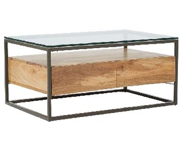 West Elm Box Frame Storage Coffee Table