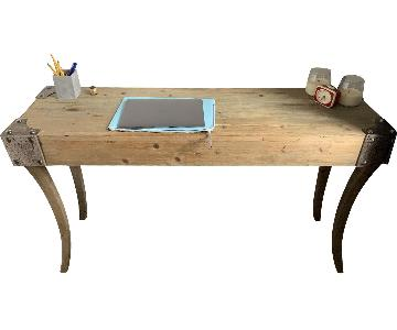 Rustic Natural-Wood Console/Desk