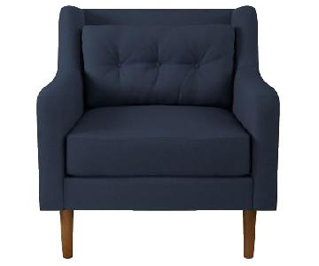 West Elm Crosby Accent Chair in Blue