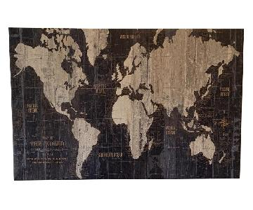 Old World Map Graphic Art Print on Wrapped Canvas