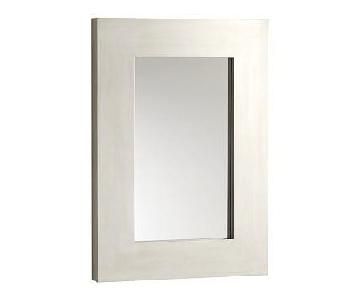 West Elm White Mirror
