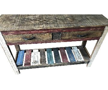 Painted Side Table w/ Drawers