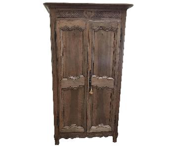 1850s Antique French Country Armoire