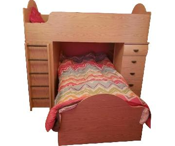 Bob's Bunk Bed w/ Drawers, Desk & Stairs