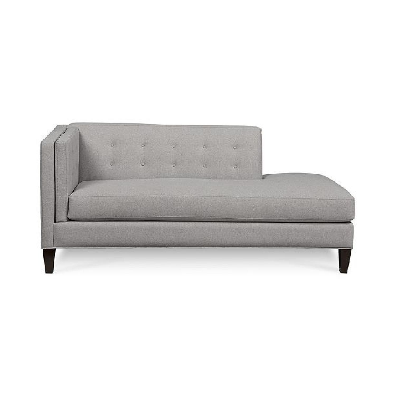 Macy\'s Gray Modern Chaise - AptDeco
