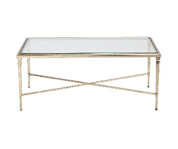 Ethan Allen Rectangular Heron Coffee Table in Pendant Finish