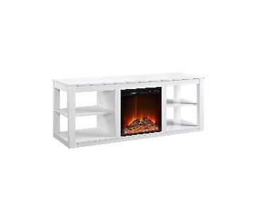 Ameriwood Home Parsons TV Stand w/ Fireplace
