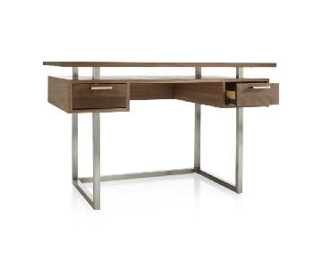 Crate & Barrel Clybourn Walnut Writing Desk
