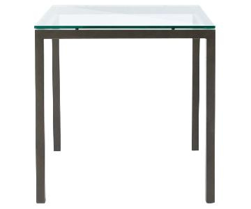 West Elm Box Frame Square Glass-Top Dining Table