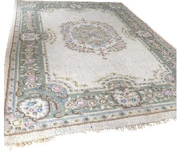 Bloomingdale's Ivory Green Asian Rug