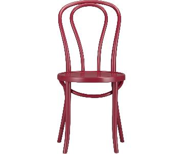 Crate & Barrel Vienna Dining Chairs in Beet