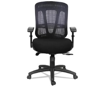 Alera Black Executive Office Chair w/ Adjustable Seat Height