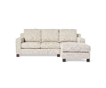 Abbyson Sectional Sofa w/ Chaise Lounge