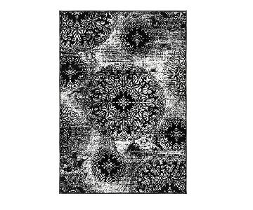 Mistana Black & White Patterned Rug