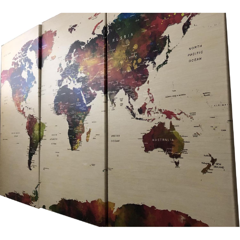Push Pin Travel World Map Wall Art Canvas Print - Push Pin ...